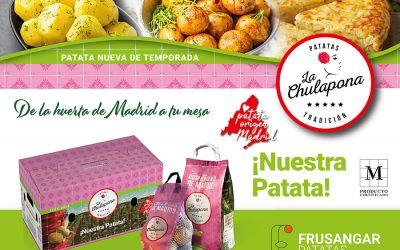 Comienza la campaña 2021 de La Chulapona, una patata nueva de temporada Km 0